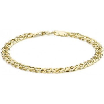 Carissima Gold 9 ct Yellow Gold Double Curb Bracelet