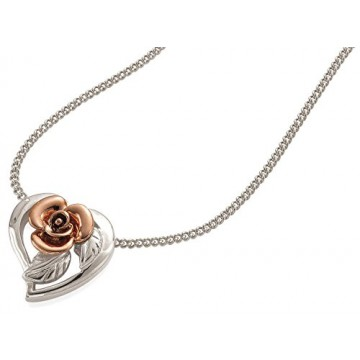 CLOGAU Gold Silver & Rose Gold Royal Roses Pendant
