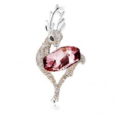 PLATO H Deer Brooch with Crystals from SWAROVSKI