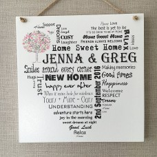 Wooden Plaque House Warming Gift -  PERSONALISED