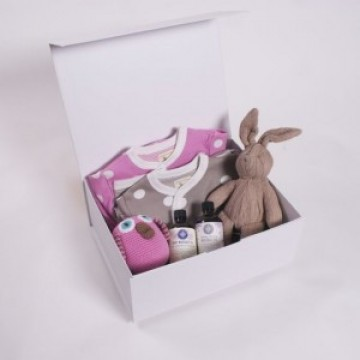 Baby Hamper – Pampered Double Trouble Pink & Ivory