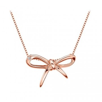 HOT DIAMONDS Rose Gold Plated Flourish Pendant of Length 40-46cm