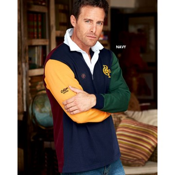 Long Sleeve Contrast Rugby Shirt