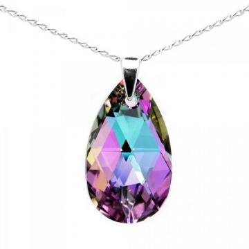 Swarowski Crystals Teardrop Pandent Necklace