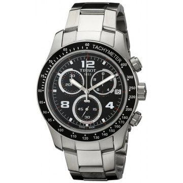 TISSOT Men's Quartz Watch with Black Dial Chronograph Display