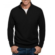 Wool Overs Mens's Lambswool Jumper Black