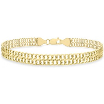 Carissima Gold 9 ct Yellow Gold Figure 8 Curb Bracelet of Length 19 cm/7.5 inch