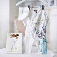 Baby Boy Romper & Hat Gift Set From Appleyard Flowers
