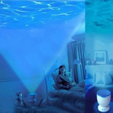 LED Night Light Blue Ocean Projection Lamp