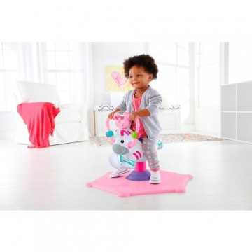 Fisher-Price Bounce and Spin Zebra Pink