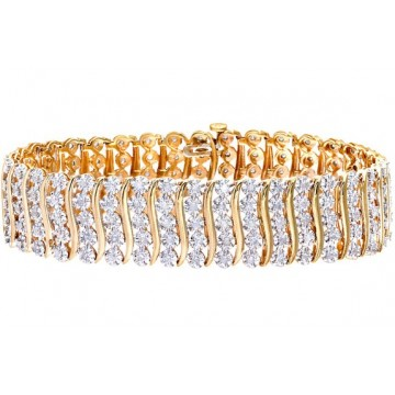 NAAVA 3ct Diamond Pave Setting Bracelet in 9ct Yellow Gold