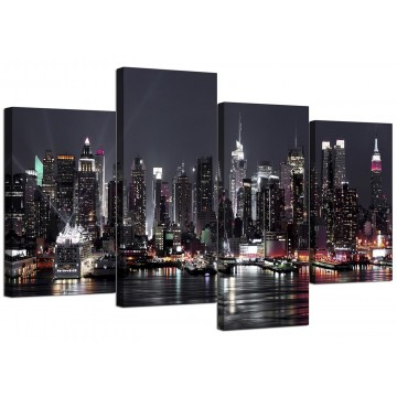 Canvas Wall Art of New York Skyline